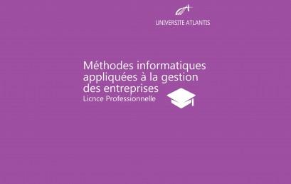 Méthodes informatiques appliquées à la gestion des entreprises